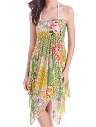 Women's Nylon/Polyester Fresh Multicolor Print Cover-Ups
