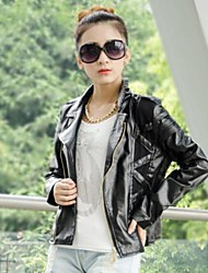 Women's lim Small Leather PU Leather Jacket