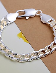 European Fashion Color separation 925 Silver Chain Bracelets(1Pc) Christmas Gifts