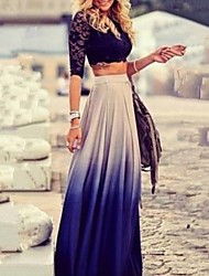 Women's Multi-color Skirts , Beach Maxi