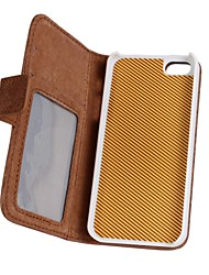 2 In 1 Top Quality Genuine Leather Wallet Case with Stand Cover for iPhone 5/5S