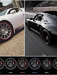Новый универсальный автомобиль вводя в моду обод наклейка защитное кольцо для автомобильной хаб 22 '' макс автоматическая украшения 10 цветов