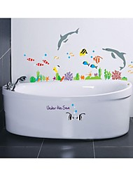 Wall Stickers Wall Decals, Style Cartoon World Of The Sea PVC Wall Stickers
