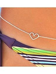 Women's Sexy Silver Heart  Body Belly Chain for Bikini Holiday