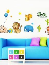 adesivos de parede adesivos de parede, animais encantadores parede partido pvc etiquetas