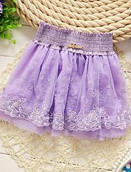 Girl's Summer/Spring/Fall Micro-elastic Medium Skirts (Cotton)