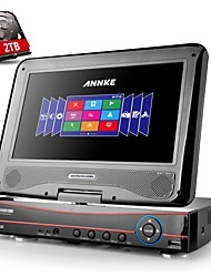 "ANNKE 8CH 960H 720P Remote View HDMI HVR DVR NVR CCTV Security Recorder w/ Built-in 10.1"" LCD Monitor"