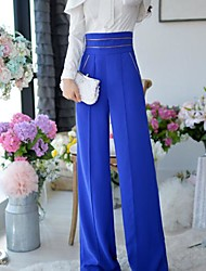 Women's Work Wide Leg Long Sleeve High WaistMedium Pants (Polyester/Viscose)