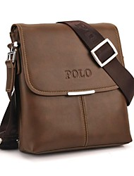 Men's Soft PU Leather Flap Top Casual Business Crossbody Bag