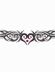1PC Temporary Tattoos Heart Crystal Glitter Lower Back Tattoos Wedding Party Tattoos Arm Tattoos(21.5*5.5CM)