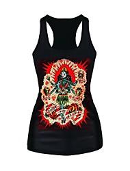 Normal - Medium - Sexy/Print - Polyester ) Vest