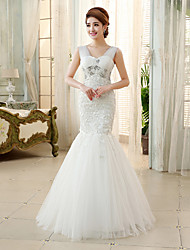 Ball Gown / Princess Wedding Dress Floor-length Straps Tulle with