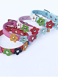 Cat / Dog Collar Adjustable/Retractable / Cosplay Red / Blue / Pink / Rose PU Leather