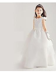 Princess Floor-length Flower Girl Dress - Cotton/Organza/Taffeta Sleeveless