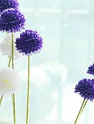cinq hygrangeas violines tête artificielle fleurs pack 2