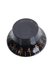 Flying Saucer Style Black & White Digital Electric Guitar Speed Control Knobs Guitar Pot Button Cap 50PSC/LOT