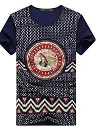 toevallige afdrukken korte mouw regelmatige t-shirts voor mannen (katoen blends)