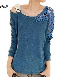 NUO WEI SI ®  Women's Round Neck Korean Style Loose Fit Blouse