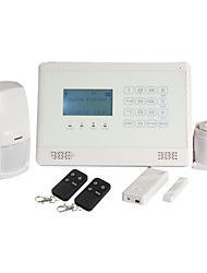 GSM Alarm System Security System Timely Arm/Aisarm with Touch Keypad and LCD Dispaly M2BX White