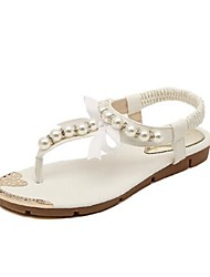 Women's Shoes Flat Heel T-Strap Sandals with Beading Shoes More Colors available