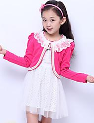 Girl's Sweet Lace Two Piece Set Dress(Cardigan&Dress)