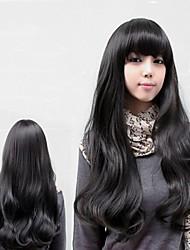 style de mode frange quotidienne cheveux naturels ondulés perruques complètes bouclés