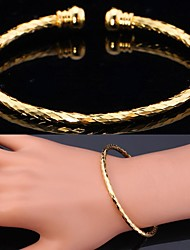 U7® 2 Colors Cuff Bracelet 18K Gold Platinum Plated Classical Bracelet Bangle  Jewelry Vogue for Women High Quality
