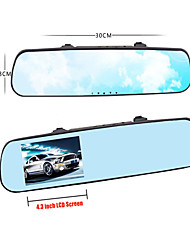 Car Rearview Mirror With 4.3 Inch Lcd DVR Video Recorder CZM011