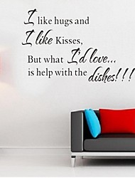 Wall Stickers Wall Decals,English Words & Quotes PVC Wall Stickers