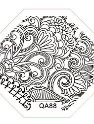 Nail Art Stamp Stamping Image Template Plate QA Series NO.88