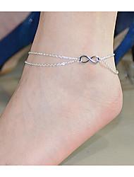 Bracelet de cheville Alliage Argent Bijoux,1pc