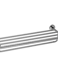 Contemporary Chrome Finish Stainless Steel Wall Mounted Towel Rack