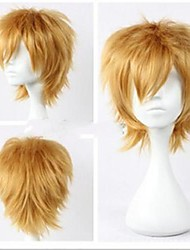 Top Quality Fashion  Blonde Short  Straight Cosplay Wig Synthetic  Party Wigs Hair