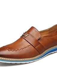 Zapatos de Hombre Boda/Oficina y Trabajo/Casual Cuero Oxfords Negro/Marrón/Rojo