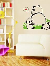 adesivos de parede adesivos de parede, adorável panda bebê parede pvc adesivos