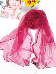 Shawls Chiffon/Polyester Bead Thin Casual/Special Occasion Scarves(More Colors)