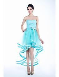 A-line Sweetheart Ankle-length/Asymmetrical Tulle Graduation Dress