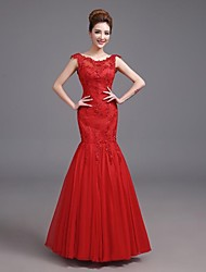 Formal Evening Dress Fit & Flare Straps Floor-length Satin with Pockets