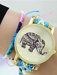 Armband-Uhr - Stoff - Quartz - für Damen