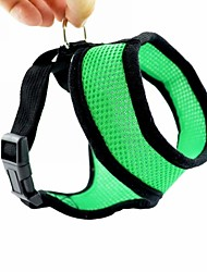 Dog Harness Adjustable/Retractable Red / Black / Green / Blue / Pink Nylon / Mesh