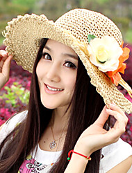 Women Flower Straw Hats With Outdoor/Casual Beach Hat (More Colors)