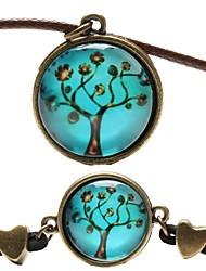 Fashion Peace Tree Shape(Includes Necklace&Bracelet)Jewelry Set