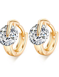 Women's Unique 18K Gold Plating Inlay Zircon Earrings