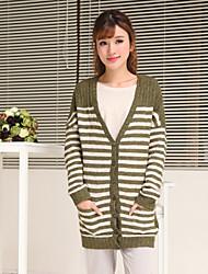 maminha&zebra longo casaco de malha das mulheres co