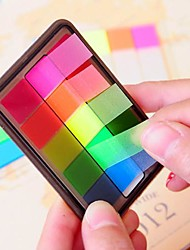 colorido mini-posto de etiqueta ao Bookmark bandeiras marcador guia índice de notas de aniversário de criança presente retorno casamento