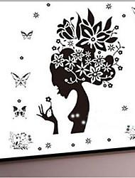 окружающей среды съемный трава фея ПВХ стикер стены