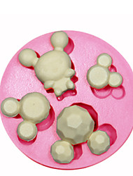 Mickey Mouse Silicone Mould Cake Decorating Silicone Mold For Fondant Candy Crafts Jewelry PMC Resin Clay