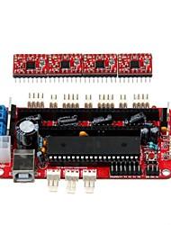 geeetech 3D-принтер RepRap собраны sanguinololu доска + 4 х a4988 драйвера шаговых