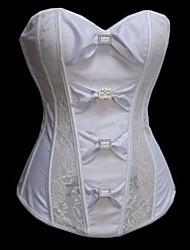 blanco impreso satanás lolita clásico mujeres cosret sexy corsé de tamaño s-2xl