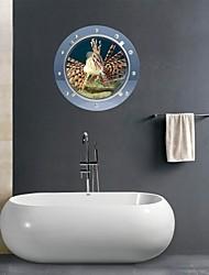 Adesivos de parede adesivos de parede 3d, voado banheiro peixes parede decoração mural pvc adesivos